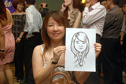 caricature live sketching for Panasonic Factory Solutions D&D -9