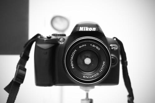 Pentacon 50mm an Nikon D40