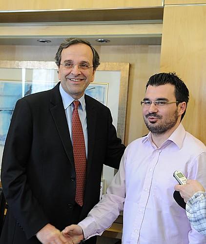 Συνάντηση με τον πρόεδρο μας Αντώνη Σαμαρά στην Ρηγίλλης