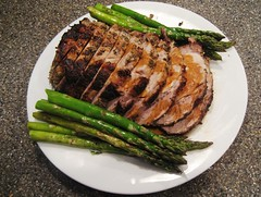 rosemary garlic roasted pork loin