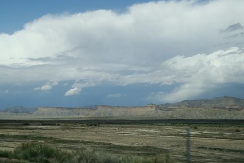 Utah landscape on I-70