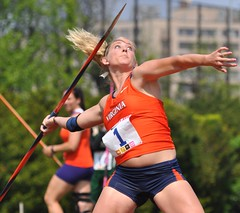 Meghan Briggs - University of Virgina - 2009 Penn Relays Javelin Champion (MNJSports) Tags: field track trackfield franklinfield pennrelays philadelpha