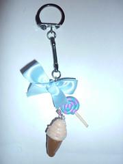 Glace Lollipop bleu
