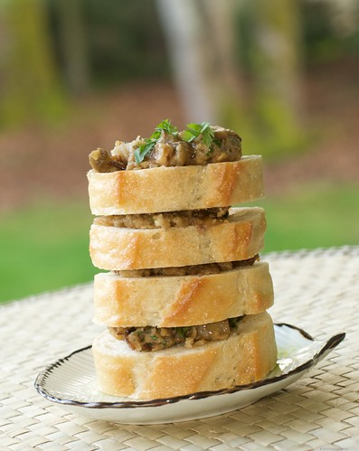 Eggplant Pate on French Bread