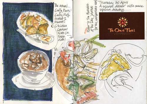 100429 Dinner sketching