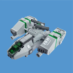 JSH-8  Gunship - 'The Josh' (Fredoichi) Tags: fighter lego space military micro gunship starfighter microscale fredoichi letstakeitoutside