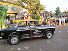 MWS - Taxi (andthemonkey) Tags: street india black flower market taxi bombay mumbai galli dadar phool