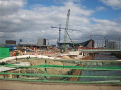 Aquatics Centre - London 2012 Olympic Site (Andy Wilkes) Tags: london andy river site construction view stadium centre tube may andrew arena lea inside olympic build handball velodrome 2012 2010 wilkes aquatics londonist marshgate insidelondon2012