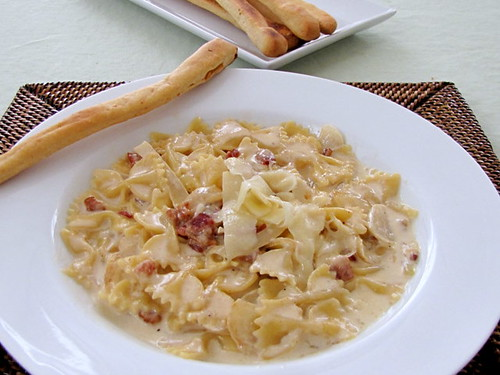 Farfalle in Asiago Cream Sauce
