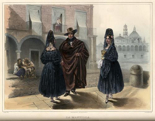 005-La mantilla -Voyage pittoresque et archéologique dans la partie la plus intéressante du Mexique1836-Carl Nebel