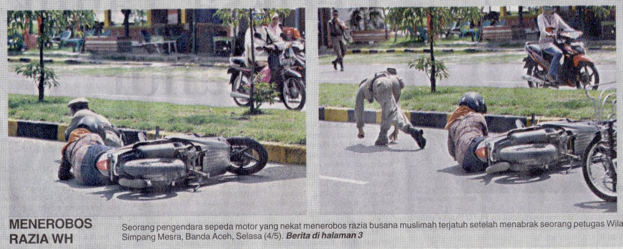 """Menerobos Razia WH,"" Serambi front page, 5 May 2010"