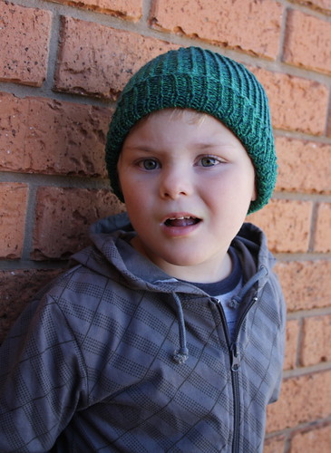 Ronan in his new beanie