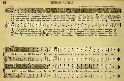 """Oh! Susanna""-Ethiopian Glee Book-Christy Minstrels 1848"