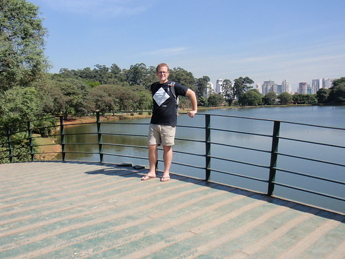 At the park, with a nice view of part of the Sao Paulo skyline
