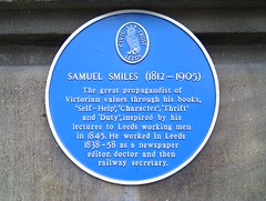 Photo of Samuel Smiles blue plaque
