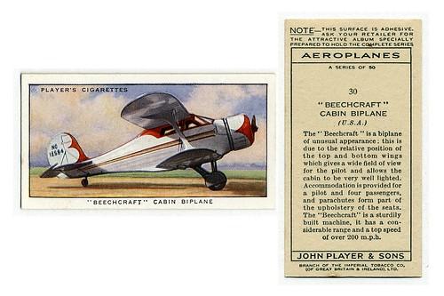 009-'Beechcraft' cabin biplane (U. S. A.) (ca. 1919-1940)