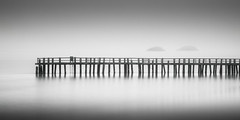 (maxxsmart) Tags: california wood winter blackandwhite bw seascape cold water monochrome rock fog contrast sunrise canon reflections landscape islands bay pier shadows rope lee crop bayarea marincounty sanrafael 2x1 2010 chinacamp lader lookingeast lumps nobirds thesisters wetfeet gnd 1x2 10stop ef2470f28lusm rwemerson 10stopndfilter bwnd110 bwseascape bw10stopnd 5dmarkii adoptthepaceofnaturehersecretispatience 6ndgrad