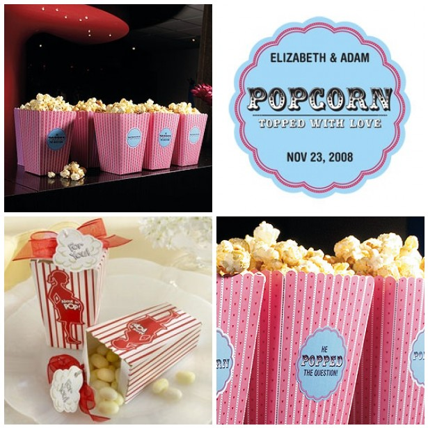 Popcorn Favors For Weddings And Baby Showers