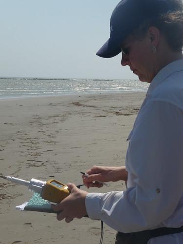 Gina Solomon Measuring for VOCs at South Pass near Venice