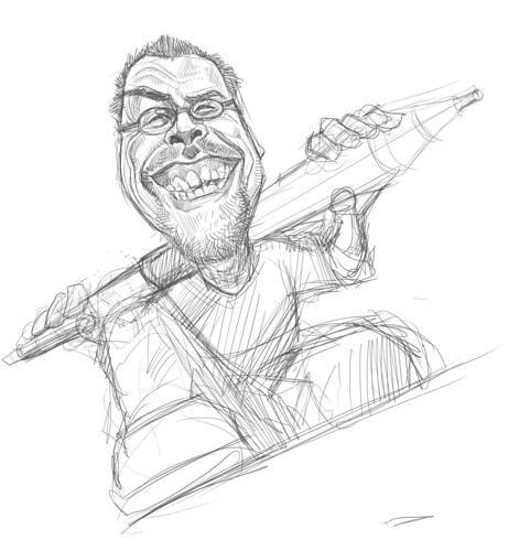digital sketch of Robert Summer (Floyd) - 3