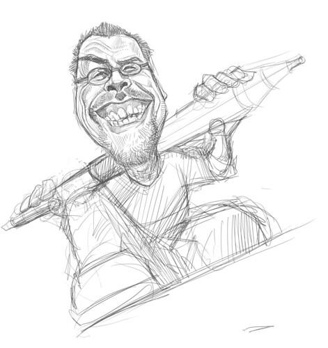 digital sketch of Robert Summer (Floyd) - 3