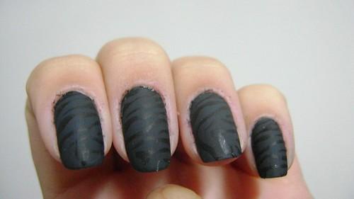 Black nails com estampa