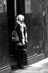 Will he turn up ? (Alan Pryde) Tags: road street old city bridge people music plant hat car gardens scarf bench poster square drums graffiti scotland george friend kilt drum guitar glasgow scottish cycle drummer botanic celtic busker bagpipes smoker celt begger tartan bycicle faslane