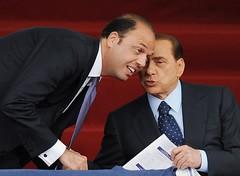 Berlusconi e Angelino Alfano