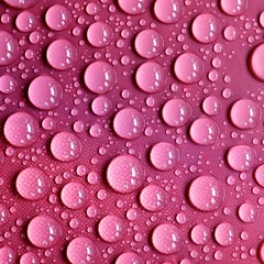Pink Plastic Paper Water drops
