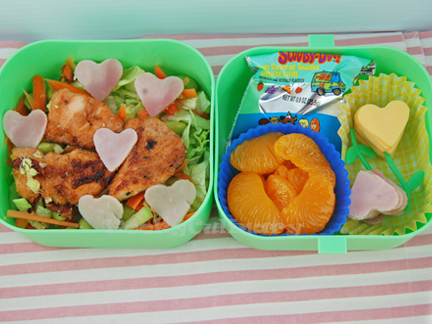 Kids Bento #103 - I heart salmon