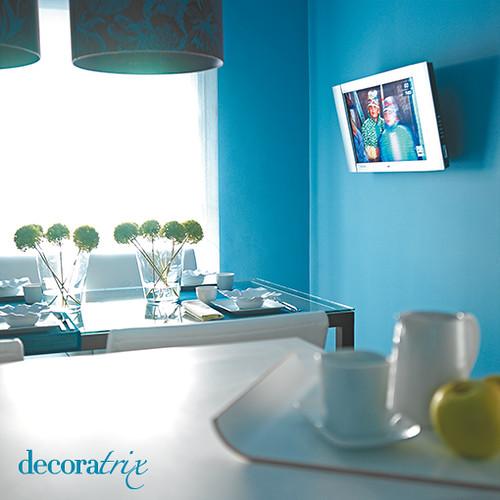 paredes pintadas en azul turquesa