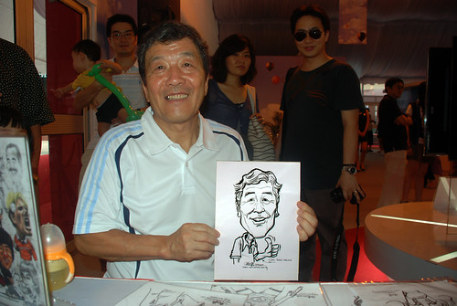 caricature live sketching for LG Infinia Roadshow - day 1 - 23