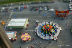 Funfair in Toytown (Dave G Kelly) Tags: carnival ireland people dublin miniature shift tilt funfair amusements tiltshift toytown leopardstown leopardstownfunfair gettyimagesirelandq1