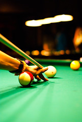 Love the bokeh (Forest Wang) Tags: canada pool club night 50mm quebec sony sherbrooke billiards f22 8ball iso1600 wellinton fridaynight 1007pm sonydslra230 dslra230 160secatf22 may212010 fridaynightpool