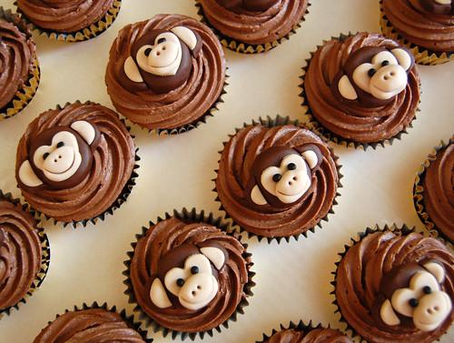 Monkey Cupcakes Beautiful Birthday Cakes