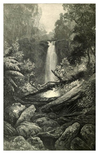 030-Melbourne en Lorne-Catarata Erskine-Australasia illustrated (1892)- Andrew Garran