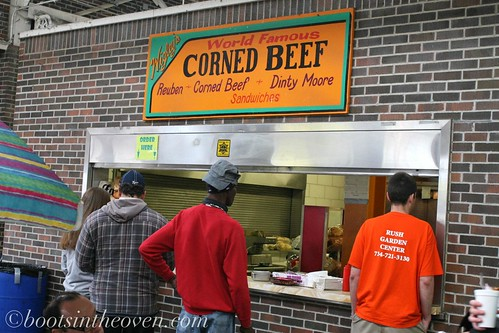 Wigley's Corned Beef and Dinty Moore Sandwiches