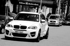 BMW X5 G-power Typhoon (RobbertK) Tags: auto white black robin 30 rotterdam women 4x4 over hilton player m bmw leds british van done suv m5 v8 48 typhoon v10 voetbal celeberty footbal v6 x5 lumma tuned x3 bodykit gpower speler persie voetballers worldcars x6m x5m voetbaler voetballersauto