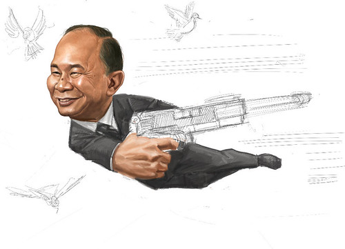 digital sketch of John Woo - 8
