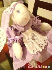 Coelha de Pano - Genevive (Ser assim...) Tags: coelho genevive tecido coelha