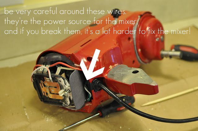 be careful of the wires!