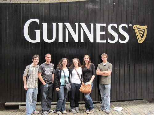 Dylan, me, Melanie, Carolyn, Gabby and Nick at the Guinness Storehouse