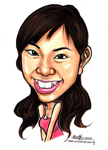 caricature for Red Cross Singapore