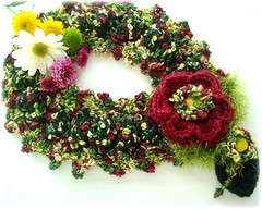 Flor do Inverno, cachecol-colar de crochê von Lidia Luz