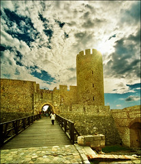 Past in the present.. or the other way around? :) (Katarina 2353) Tags: old city sky tower history film wall clouds photography town spring nikon europe image roman fort serbia x cielo keep belgrade fortress beograd s