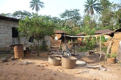 Nigerian village (Barefoot In Florida) Tags: village baskets nigeria mudbrick ogunstate