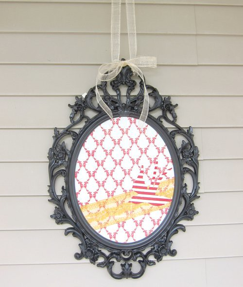 fabric scraps picture frame