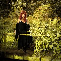 Près de l'étang (Daniel Schoumakers) Tags: wood trees landscape women femme arbres paysage forêt micheline étang soulscapes thedantecircle newgoldenseal