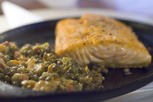 Arctic Char and Lentils