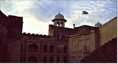 Shahi Qila ((s@jj@d)~`~DiL~AwAiZ~`~ Back) Tags: street blue pakistan sky white black green art love beautiful beauty star asia time flag royal flags pakistani lover lovely syed lahore pabbi masjid forte shah shahiqila panjabi dil shahi qila lahori sajjad panjab nowshera mugha chirat coliur badshai awaiz dilawaiz